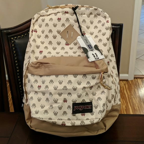 5c13d5df0a0 Jansport Disney Luxe Minnie tan superFX backpack